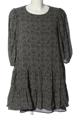 Zara A-Linien Kleid schwarz-weiß Allover-Druck Casual-Look