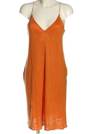 Zara A-Linien Kleid hellorange Casual-Look