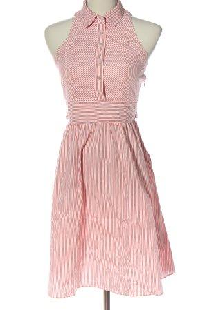 Zara A-Linien Kleid weiß-rot Allover-Druck Casual-Look
