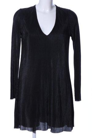 Zara A-Linien Kleid schwarz Streifenmuster Casual-Look