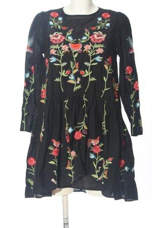 Zara A-Linien Kleid Blumenmuster Casual-Look