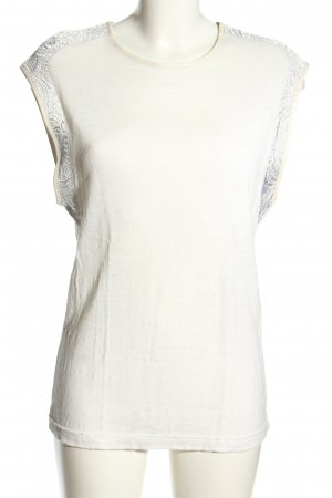 Zara A-Linien Top weiß Casual-Look