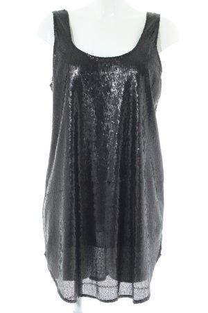 Zara Abendkleid schwarz Glanz-Optik