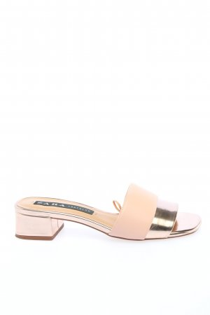Zara Heel Pantolettes nude-gold-colored elegant