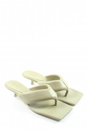 Zara Mule à talon blanc cassé style décontracté