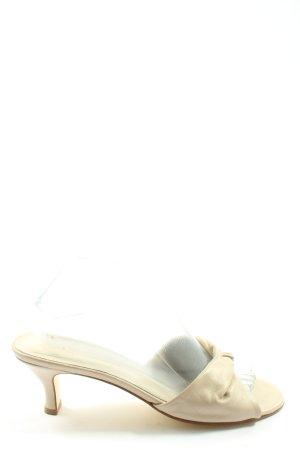 Zara Absatz Pantoletten creme Casual-Look