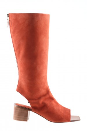 Zara Absatz Stiefel rot Casual-Look