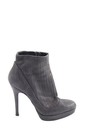 Zara Absatz Stiefel hellgrau Casual-Look