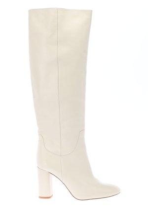 Zara Absatz Stiefel weiß Elegant
