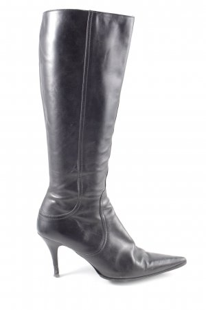 Zara Absatz Stiefel schwarz Casual-Look