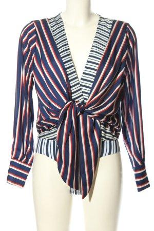 Zara Accesoires Bodysuit Blouse striped pattern casual look