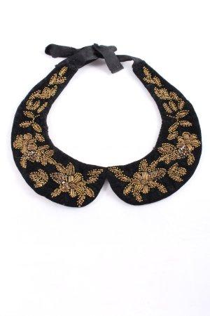 Zara Accesoires Colletto camicia nero-oro elegante