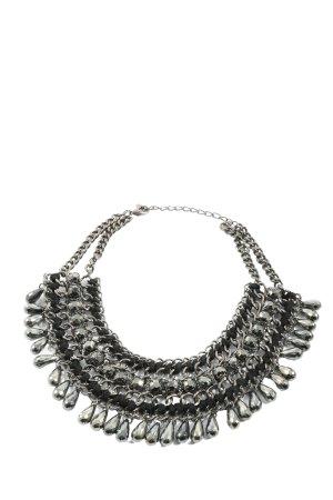 Zara Accesoires Collier argento-nero stile classico