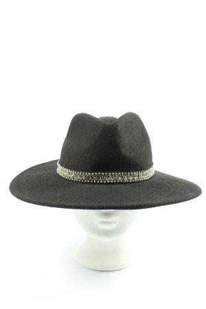Zara Accesoires Cappello in feltro nero stile casual