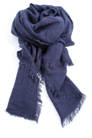 Zara Accesoires Fransenschal blau Casual-Look