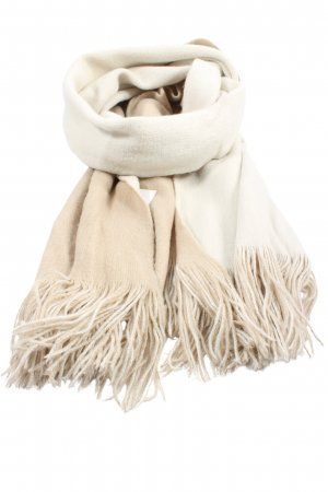 Zara Accesoires Fringed Scarf natural white casual look