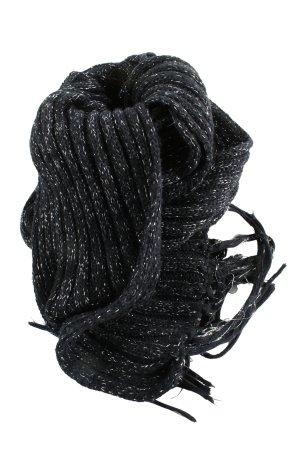Zara Accesoires Bufanda de flecos negro-blanco moteado look casual