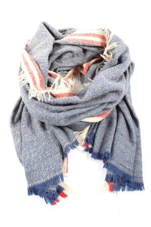 Zara Accesoires Écharpe à franges motif rayé style décontracté