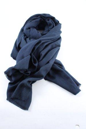 Zara Accesoires Écharpe à franges bleu style décontracté
