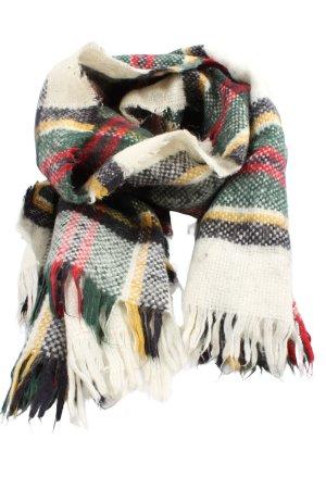 Zara Accesoires Bufanda de flecos estampado a rayas look casual