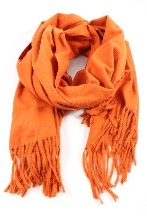 Zara Accesoires Bufanda de flecos naranja claro look casual