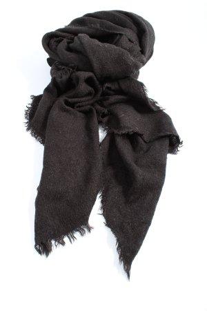 Zara Accesoires Bufanda de flecos marrón moteado look casual