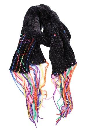 Zara Accesoires Bufanda de flecos negro look casual