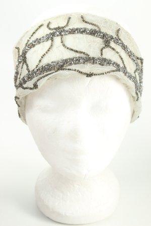 Zara Accesoires Haarband wollweiß-silberfarben Elegant