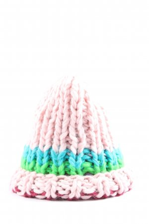 Zara Accesoires Cappello all'uncinetto multicolore stile casual