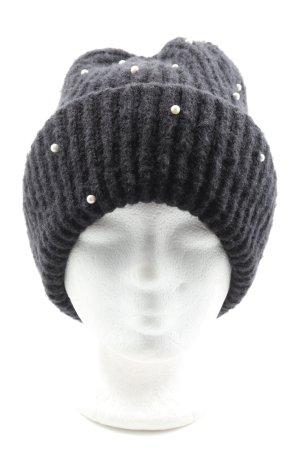 Zara Accesoires Bonnet en crochet gris clair moucheté style décontracté
