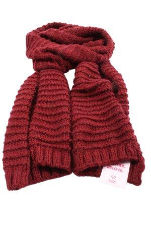 Zara Accesoires Bufanda de ganchillo rojo punto trenzado look casual