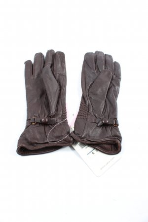 Zara Accesoires Leather Gloves brown casual look