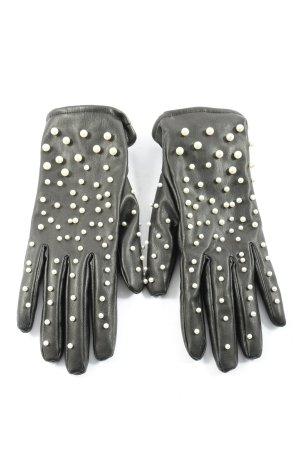 Zara Accesoires Handschoenen van imitatieleder zwart zakelijke stijl