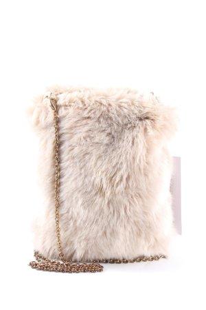 Zara Accesoires Torebka mini w kolorze białej wełny Ekstrawagancki styl