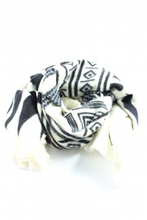 Zara Accesoires Pashmina white-black graphic pattern casual look
