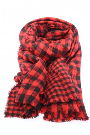 Zara Accesoires Shoulder Scarf red-black check pattern casual look