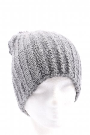 Zara Accesoires Knitted Hat light grey casual look