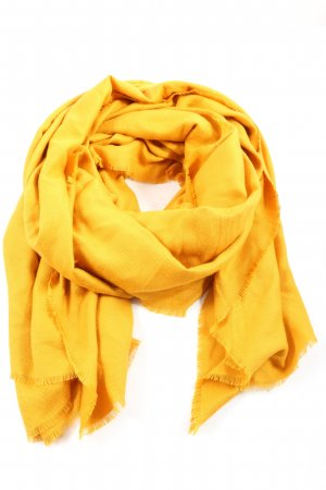 Zara Accesoires Écharpe en tricot jaune primevère style décontracté