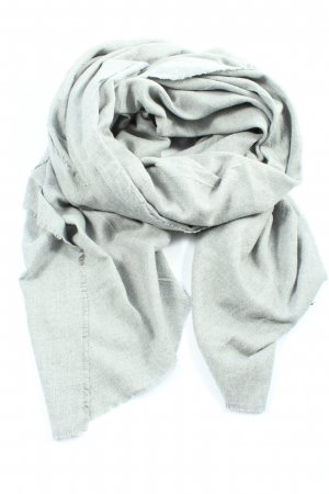 Zara Accesoires Knitted Scarf light grey flecked casual look