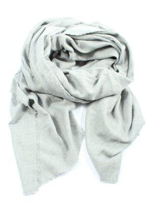 Zara Accesoires Écharpe en tricot gris clair moucheté style décontracté