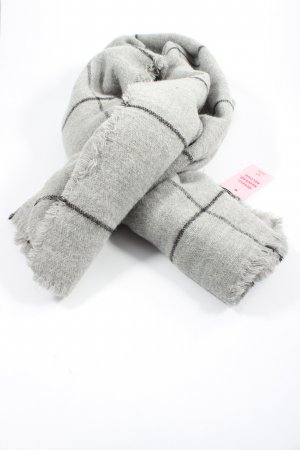 Zara Accesoires Knitted Scarf light grey check pattern casual look