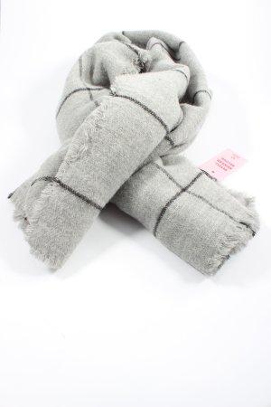 Zara Accesoires Écharpe en tricot gris clair motif à carreaux