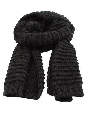 Zara Accesoires Écharpe en tricot noir style décontracté