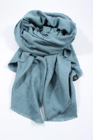 Zara Accesoires Écharpe en tricot bleu style décontracté