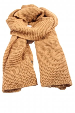 Zara Accesoires Knitted Scarf light orange cable stitch casual look