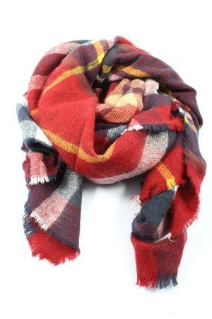 Zara Accesoires Sciarpa lavorata a maglia motivo a quadri stile casual