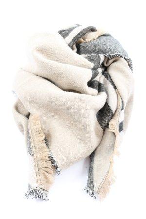 Zara Accesoires Knitted Scarf cream-light grey casual look