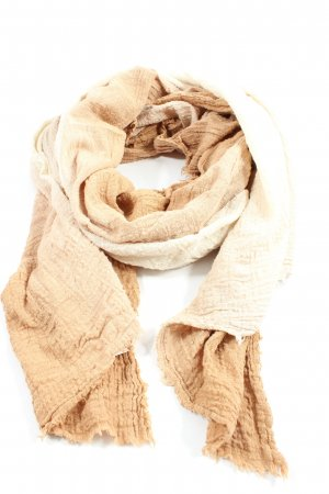 Zara Accesoires Bufanda de punto nude-crema degradado de color look casual
