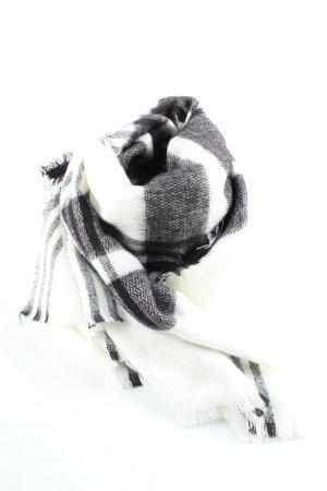 Zara Accesoires Écharpe en tricot blanc-noir motif à carreaux