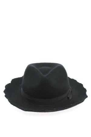 Zara Accesoires Wollen hoed zwart casual uitstraling